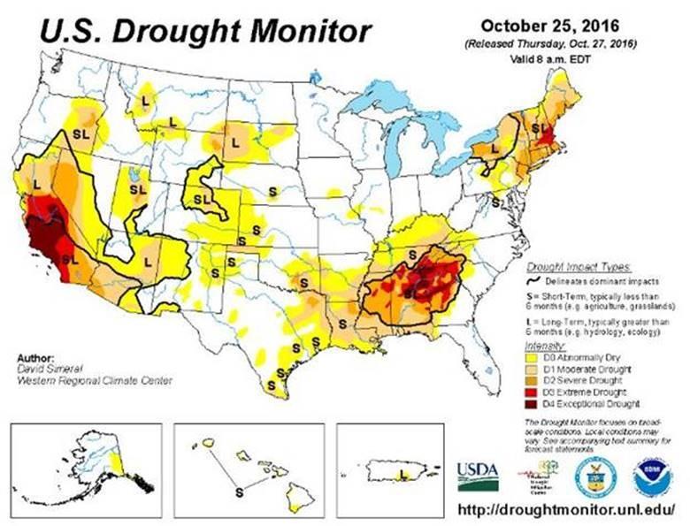 Latest US Drought Monitor | Nebraska Water Resources ociation on